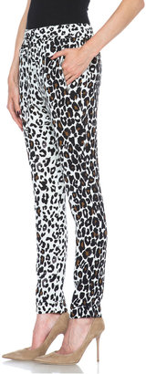 A.L.C. Thompson Silk Pant in White Leopard