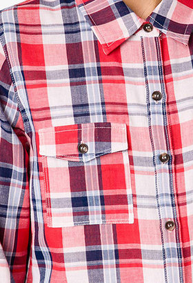 Forever 21 On the Range Plaid Button Down