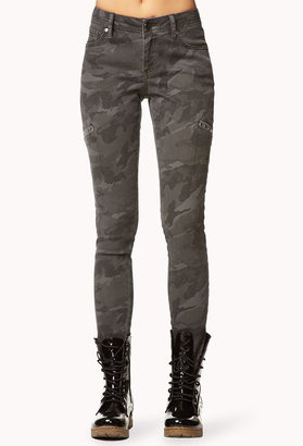 Forever 21 Edgy Camo Skinny Pants