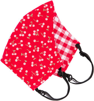 L. Erickson Love II Reversible & Reusable Cloth Face Mask Covering, Cherry/Gingham