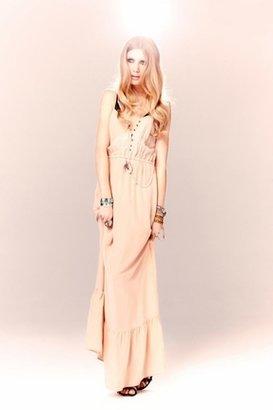 Twelfth St. By Cynthia Vincent by Cynthia Vincent Ruffle Hem Maxi Dress in Blush