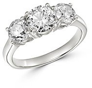 Bloomingdale's Diamond Three-Stone Ring in 14K White Gold, 2.50 ct. t.w. - 100% Exclusive