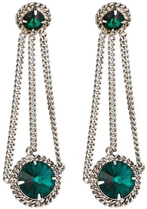 Courtney Lee Collection Emerald Brittany Earrings