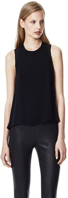 Theory Braiden Top in Double Georgette Silk