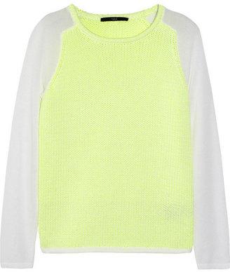 Tibi Neon heavy and fine-knit sweater
