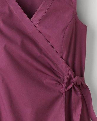 Coldwater Creek Poplin faux wrap top