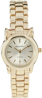 Aeropostale Cat Ear Metal Watch