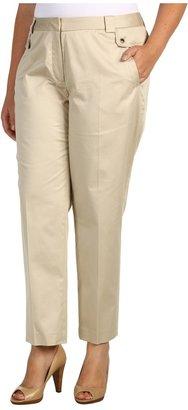 Klein Plus Anne Plus Size Slim Leg Pant (Pedra) - Apparel