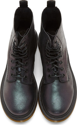 Dr. Martens Black Suede 8-Eye Pascal Boot
