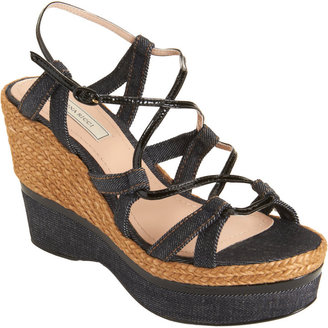 Nina Ricci Denim Espadrille Wedge