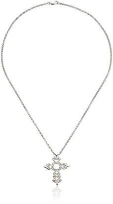 """Zina Sterling Silver """"Seville"""" Seville Cross Pendant Necklace"""