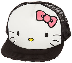 Vans The x Hello Kitty Trucker Hat in Hot Pink & White