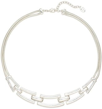 Brooks Brothers Rectangle Linked Collar Necklace