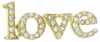 Jennifer Meyer Diamond Love Statement Stud Earring - Yellow Gold