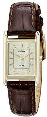 Seiko Women's SUP252 Analog Display Japanese Quartz Brown Watch $195 thestylecure.com