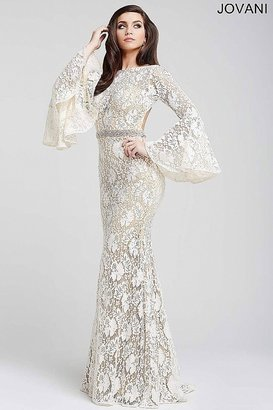 Jovani - Bell Sleeve Lace Prom Dress 35160 $790 thestylecure.com