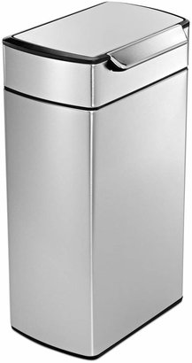 Simplehuman Brushed Stainless Steel 40 Liter Fingerprint Proof Touch Bar Trash Can