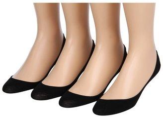 Hue Hidden Cotton Liner 4-Pair Pack Women's No Show Socks Shoes