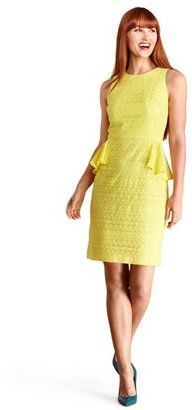Donna Morgan Lace Peplum Sheath Dress