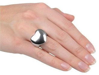 Sterling Silver Heart Ring - Silver