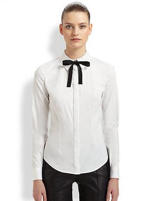 Jason Wu Bow-Neck Cotton-Blend Shirt