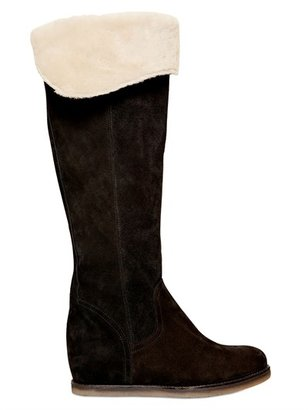 Manas Design 70mm Suede Wedge Boots