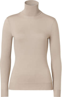 Ralph Lauren Black Mineral Merino Wool Turtleneck