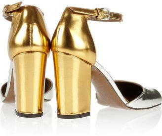 Marni Mirrored-leather pumps