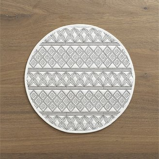 Crate & Barrel Alexandra White Placemat