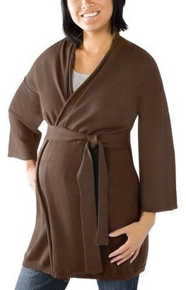 Liz Lange for Target® Belted Wrap Sweater - Spanish Brown