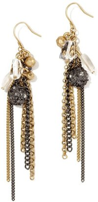 Kenneth Cole new york two-tone chain-fringe earrings