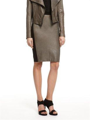 DKNY Lamb Leather Pencil Skirt