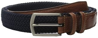 Torino Leather Co. 32MM Italian Woven Multi Cotton Elastic (Navy) Men's Belts
