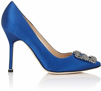 Manolo Blahnik Women's Hangisi Pumps $965 thestylecure.com