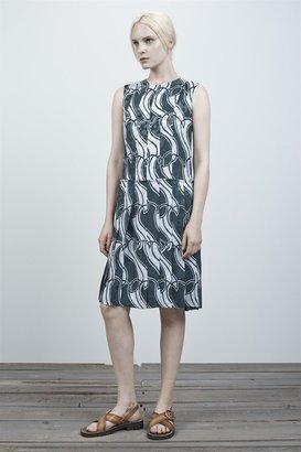 Marc Jacobs Wave Jacquard Crewneck Dress