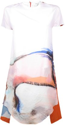 Carven Printed Shatung Dress