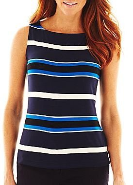 Liz Claiborne Striped Knit Tank Top
