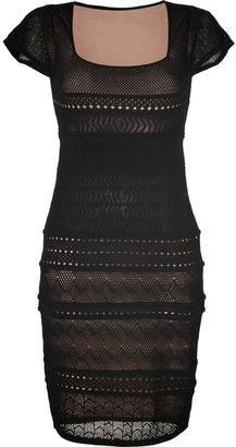 Catherine Malandrino Black Pointelle Dress