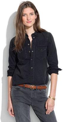 Madewell Western Jean Shirt in Gravel
