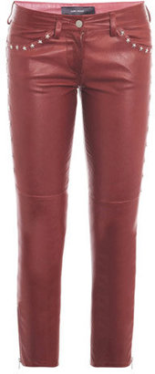 Isabel Marant Zoltan star-stud leather trousers