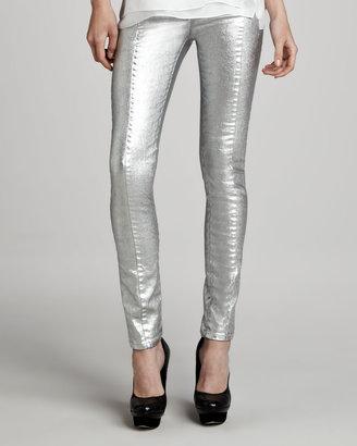 Robert Rodriguez Metallic Skinny Jeans