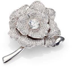 Kate Spade Rose Garden Pavé Crystal Brooch