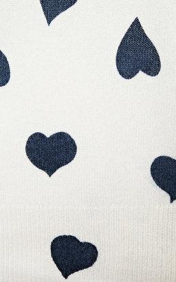 Equipment Shane Heart-Print Cashmere Sweater