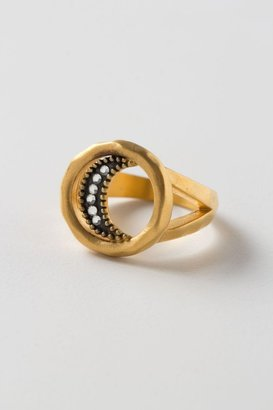 Anthropologie Gilt Crescent Ring