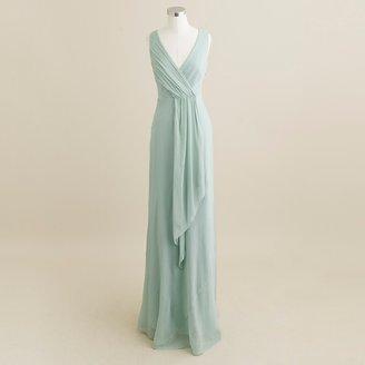 J.Crew Evie long dress in silk chiffon
