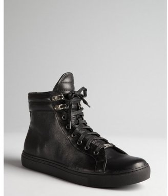 Kenneth Cole Reaction black leather high-top 'City Vision LE' sneakers