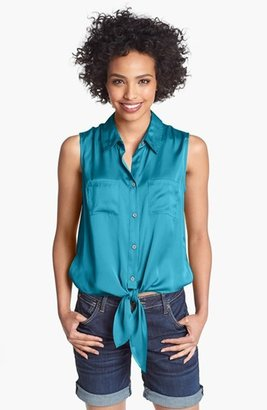 Vince Camuto Front Tie Blouse