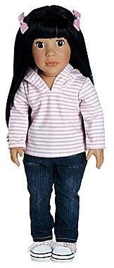 "JCPenney Adora Girl Play Doll 18"" Ava Ready for Fun Black Hair/Brown Eyes"