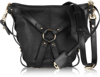 McQ by Alexander McQueen Leather bridle bucket bag