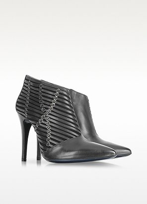 Loriblu Black Leather High Heel Bootie